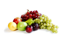 Vruchten op wit Royalty-vrije Stock Afbeelding