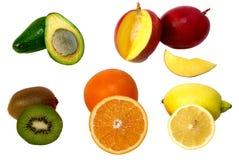 Vruchten op witte achtergrond royalty-vrije stock afbeeldingen