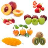 Vruchten op witte achtergrond Stock Foto