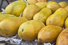 Vruchten papaja royalty-vrije stock foto
