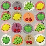 Vruchten patroon Royalty-vrije Stock Afbeeldingen