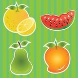 Vruchten pictogrammen stock illustratie