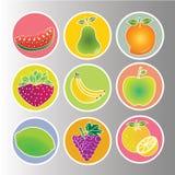 Vruchten pictogrammen royalty-vrije illustratie