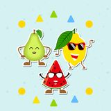 Vruchten Pictogrammeninzameling vector illustratie