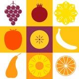 Vruchten. Pictogramreeks vector illustratie