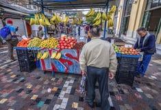 Vruchten tribune in Athene Royalty-vrije Stock Foto