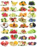 Vruchten van de appelappelen van de fruitinzameling verse oranje de aardbeimel stock fotografie