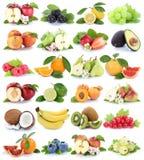 Vruchten van de appelappelen van de fruitinzameling oranje pe van de de banaanaardbei Stock Afbeelding