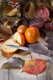 Vruchten van de herfst, dadelpruim Royalty-vrije Stock Afbeeldingen