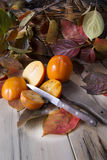 Vruchten van de herfst, dadelpruim Royalty-vrije Stock Foto's
