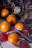 Vruchten van de herfst, dadelpruim Stock Foto's
