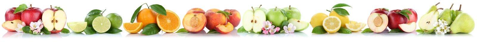 Vruchten van de nectarineappelen van de appel oranje citroen de sinaasappelenfruit in een ro Royalty-vrije Stock Afbeeldingen
