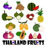 Vruchten van Thailand Stock Afbeeldingen