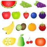 Vruchten Vector royalty-vrije stock fotografie
