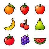 Vruchten vectorpictogram Royalty-vrije Stock Afbeeldingen