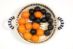 Vruchten, vitaminen, saldo, yin & yan Royalty-vrije Stock Fotografie