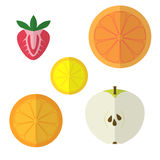 Vruchten vlak ontwerp Stock Foto's