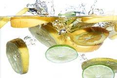 Vruchten in water Royalty-vrije Stock Foto