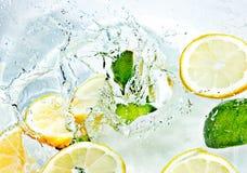 Vruchten in water Stock Foto's