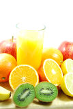 Vruchtesap Royalty-vrije Stock Foto's