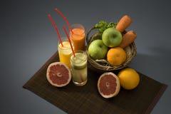 Vruchtesappen Royalty-vrije Stock Foto's