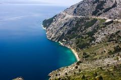 Vrulja beach near Brela Croatia Royalty Free Stock Photos