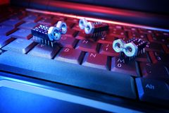 Vírus de computador Foto de Stock Royalty Free