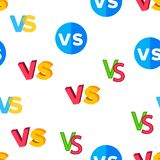 VS Abbreviation, Versus Vector Seamless Pattern vector illustration