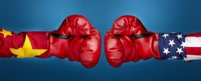 vs bokserska porcelana usa Zdjęcia Stock