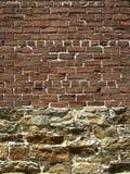 vs cegły skała zdjęcie stock
