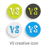 VS icon for competiton stock images