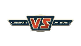 VS Logo. Versus Board of rivals. VS Logo. Versus Board of rivals, with space for text Stock Photos