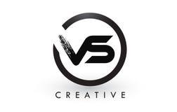 VS muśnięcie listu loga projekt Kreatywnie Oczyszczony list ikony logo ilustracja wektor