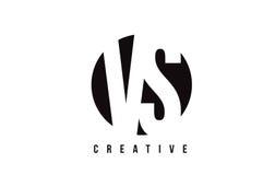 VS V S White Letter Logo Design with Circle Background. VS V S White Letter Logo Design with Circle Background Vector Illustration Template vector illustration