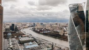 Moscow urban skyline stock images