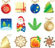 Vset of christmas design elements Royalty Free Stock Photos