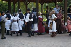 Vsetin folklore festival 2016. Traditionally, Vsetin folklore festival was interested in the appearance of foreign ensembles, which at first sight attracted Stock Image