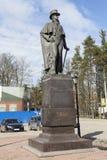 VSEVOLOZHSK, LENINGRAD REGION, RUSSIA - APRIL 27, 2015: Photo of Monument to Prince Vsevolozhsky. Royalty Free Stock Photo
