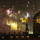 Véspera de Ano Novo em Praga Foto de Stock Royalty Free