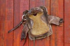 Västra cowboy för läder Royaltyfria Foton