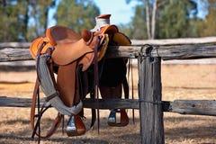västra hästsadelstil Royaltyfri Foto