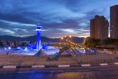 Västra ingång till Eilat på gryning Royaltyfria Bilder