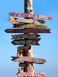 västra key signpost Royaltyfri Bild