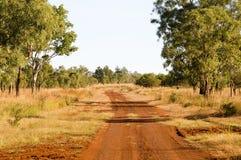 västra väg för flod för Australien gibb outback Arkivfoton