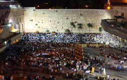 Västra vägg i Jerusalem, Israel Arkivbild