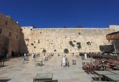 Västra vägg i Jerusalem, mäns avsnitt Arkivfoto