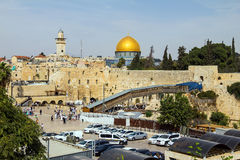 Västra väggPlaza, tempelmonteringen, Jerusalem Arkivbilder