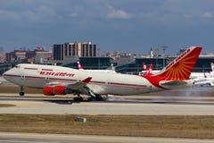 VT-EVB αέρας Ινδία Boeing 747 Στοκ φωτογραφίες με δικαίωμα ελεύθερης χρήσης