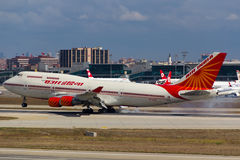 VT-EVB Air India Boeing 747 Royaltyfria Foton