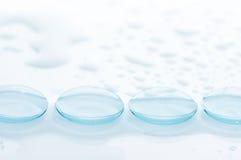 Våta kontaktlinser Fotografering för Bildbyråer